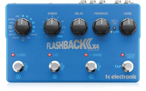TC Helicon Flashback 2 x4 Delay Pedal Expanded