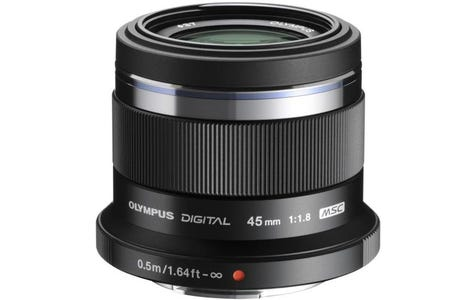 Olympus M.Zuiko Digital 45mm 1:1.8 / ET-M4518 Camera Lens for Olympus PEN - Black