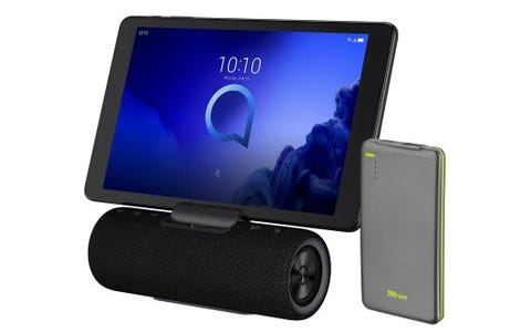 "Alcatel 3T10 10"" Tablet with Audio Station & FREE Trust Urban 4000mAh Power Bank - 16GB, Black"