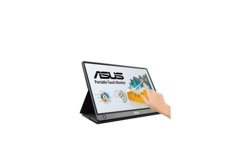"ASUS MB16AMT ZenScreen™ Touch 15.6"" 1920 x 1080p Full HD IPS Touchscreen Portable Monitor - Black"