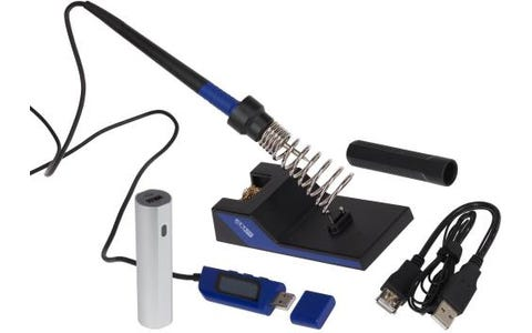 ATTEN GT2010 Portable USB Powered Soldering Iron Kit inc Stand & 2600mAh Power Bank