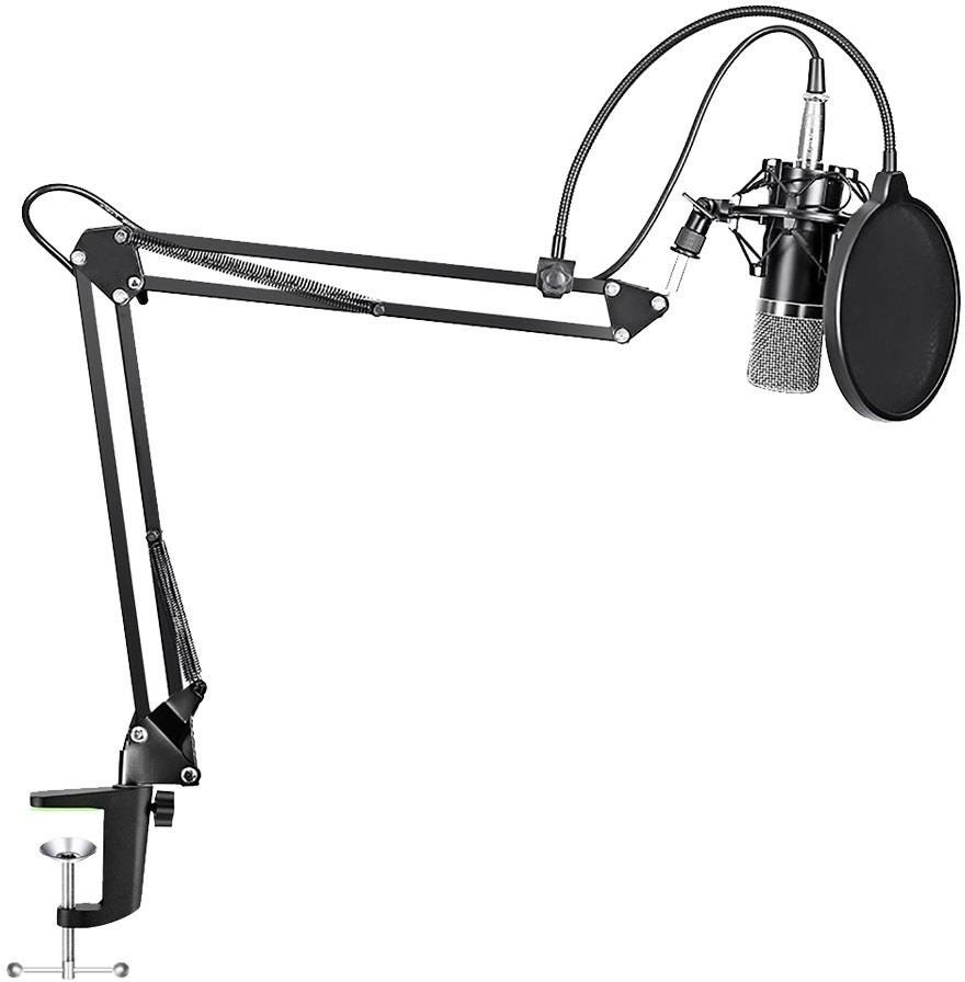 Maono Studio XLR Microphone Kit with Spring Loaded Boom Arm    Pop Filter