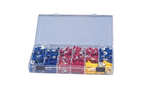 Electrovision Crimp Terminal and Connector Kit with 500 Assorted Terminals