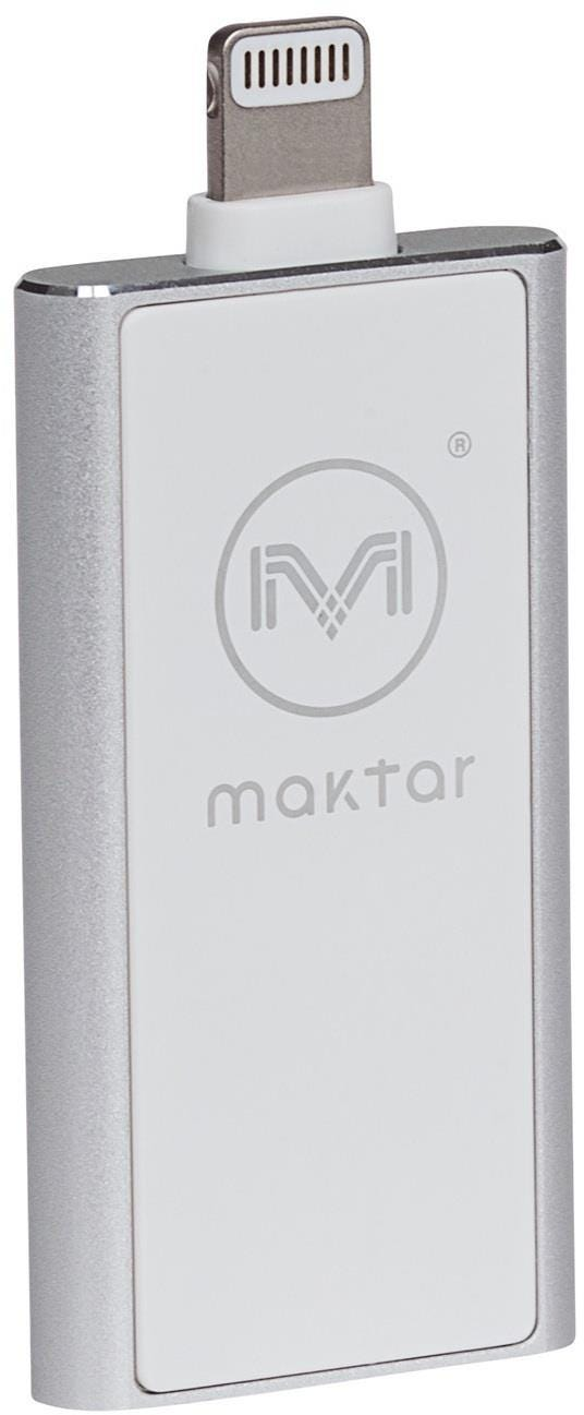 Maktar Piconizer 2 32GB Lightning Back Up Flash Drive for iPhone    iPad - Silver