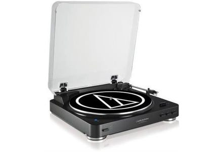 Audio-Technica AT-LP60BKBT Automatic Wireless Bluetooth Turntable - Black