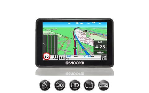 "[Used] Snooper SC5900 DVR G2 5"" LCD Car Navigation with GPS & HD Dash Cam"
