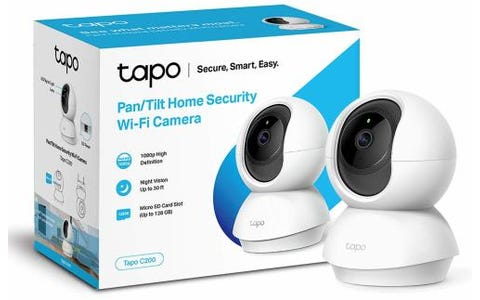 TP-Link Tapo Pan/Tilt Home Security WiFi Camera - White