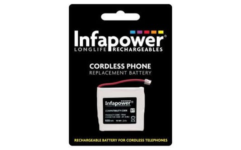 InfaPower Rechargeable Ni-MH Battery for Cordless Telephones 2x Prismatic