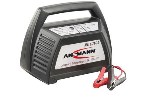 Ansmann Lead Acid Battery Charger for 6V/12V/24V Lead Acid SLA Batteries