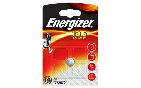 Energizer CR1216 Lithium Coin Cell Battery - 3V