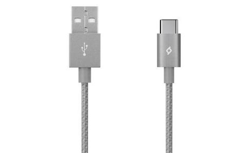 TTEC AlumiCable Type-C 2.0 to USB Data and Charging Cable (1.2m) - Grey