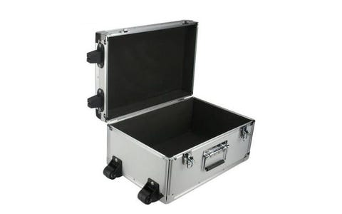 ROC Cases Aluminium Flight Case with Trolley - Silver