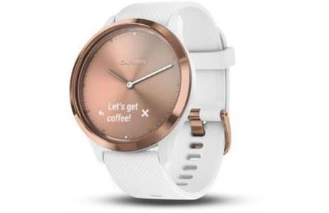 Garmin Vivomove Hybrid Silicone Band with Heart Rate Smartwatch - Rose Gold
