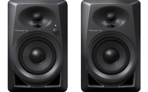 Pioneer DJ DM-40 Active Desktop Monitor Speakers - Black