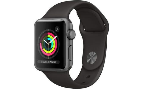 Apple GPS 38mm Watch Series 3 - Space Grey Aluminium Case with Black Sport Band