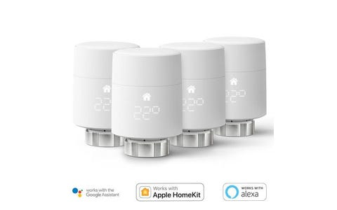 tado° Smart Radiator Thermostat Add-On (Vertical Mounting) - Quattro Pack
