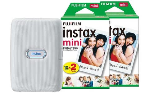 Fujifilm Instax Mini Link Printer including 40 Shots - Ash White