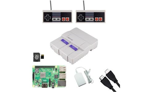 Pi Supply SNESPi Raspberry Pi Gaming Bundle with NES Gamepads