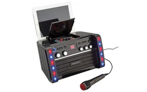 Easy Karaoke Karaoke Bluetooth System With LED Light Effects & Disc Set