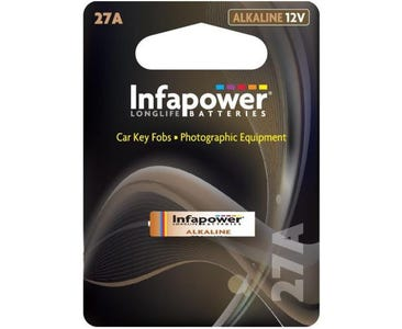 InfaPower Longlife 12v Alkaline A27 Battery