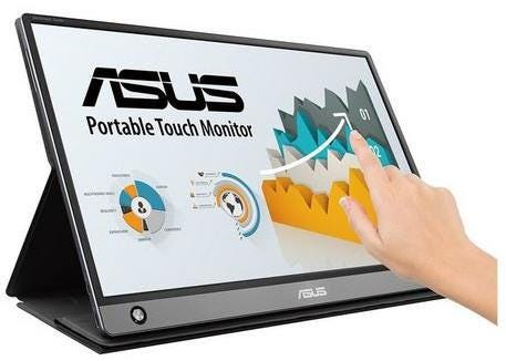"ASUS MB16AMT ZenScreen Touch 15.6"" Full HD IPS Touchscreen Portable Monitor with Built-in Battery -"