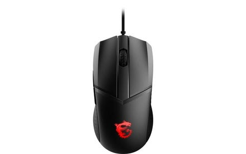 MSI Clutch GM41 Lightweight FPS 6-Button RGB Gaming Mouse - Black