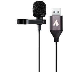 Maono Lavalier Tie-Clip On Lapel Omnidirectional USB Electret Condenser Microphone