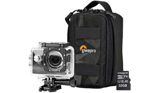 Nedis Ultra HD 4K WiFi Action Cam inc Waterproof Case, Mounting Kits, LowePro Protective Bag & 32GB MicroSD