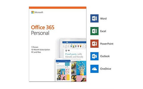 Microsoft Office 365 Personal Subscription license (1 year)