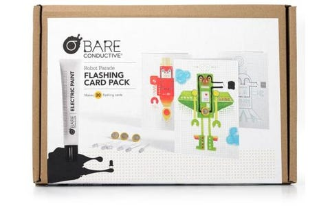 Bare Conductive Flashing Card Activity Pack Robot Parade