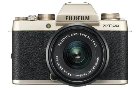 Fujifilm X-T100 Camera XC 15-45mm Black Lens Kit - Gold