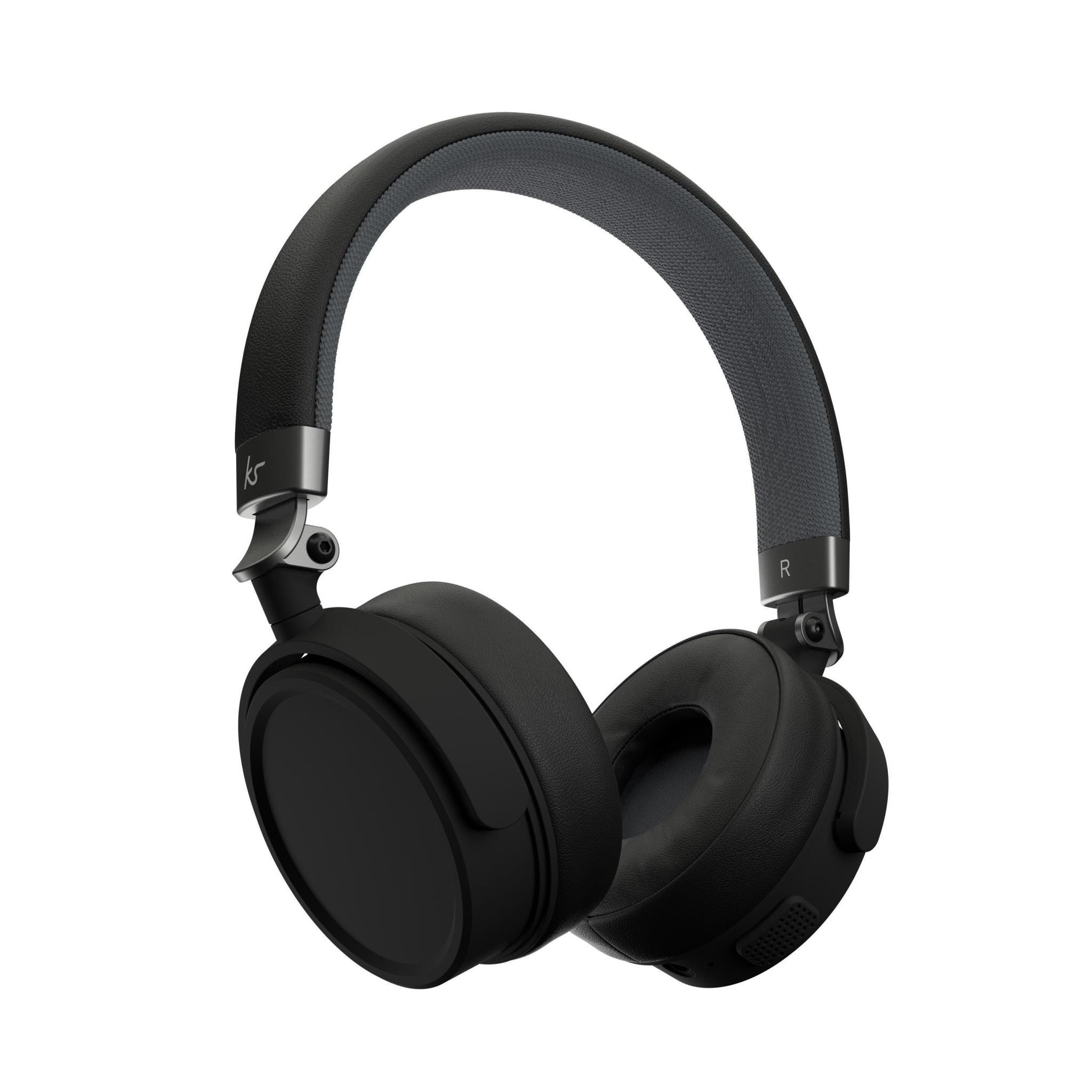 KitSound Accent 60 Wireless Bluetooth Over-Ear Headphones - Black