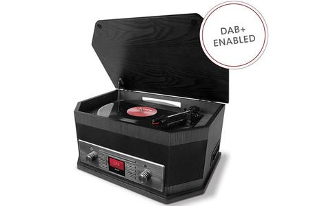 ION Audio Octave LP 8-in-1 Music Centre with Bluetooth, Turntable & Radio