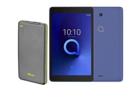 "Alcatel 3T8 8"" Tablet with FREE Trust Urban 4000mAh Power Bank - 16GB, Black"