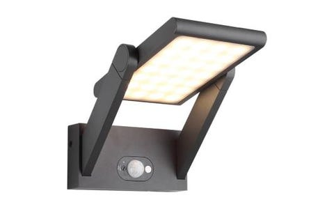 4lite Die Cast Aluminium Solar LED Wall Light with 2 Modes & Motion Detector - Graphite