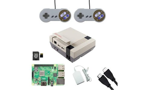 Pi Supply Ultimate Retro NESPi Raspberry Pi Gaming Bundle with SNES Gamepads