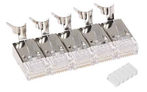 Maplin Shielded RJ45 Plugs/Connectors Cat 6 - 5 Pack