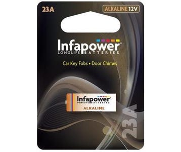 InfaPower Longlife 12v Alkaline A23 Battery