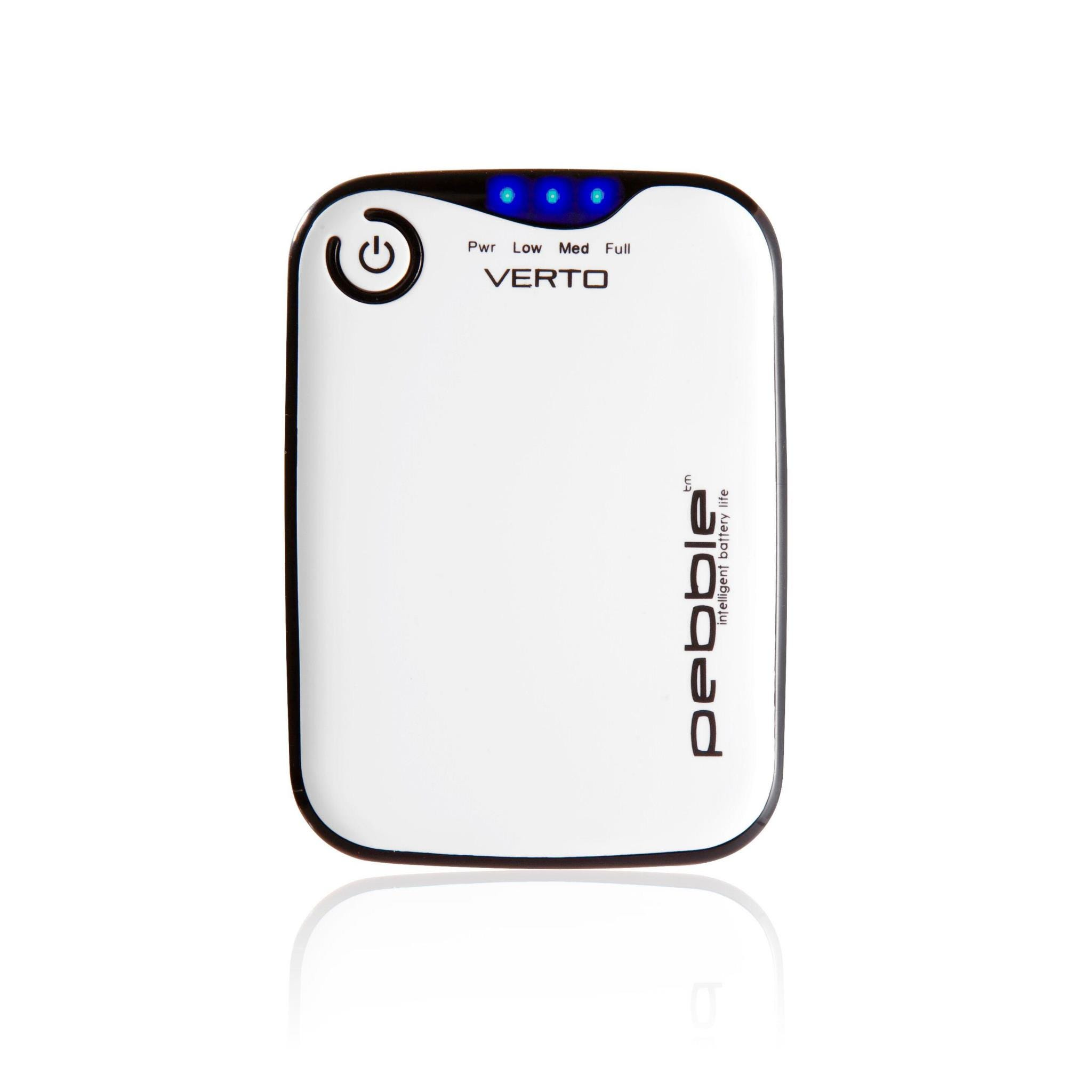 Veho Pebble Verto 3700mAh Portable Power Bank with Carry Case - White