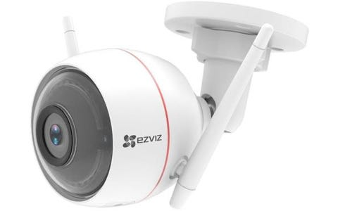 EZVIZ Full HD Outdoor Smart Security Cam with Siren & Strobe Light