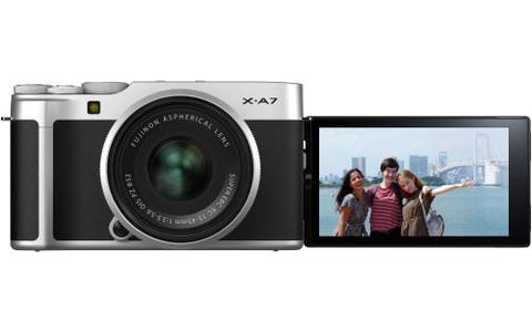 Fujifilm X-A7 Camera 24.2MP 3.5LCD Touch Screen including XC 15-45mm Silver Lens - Silver