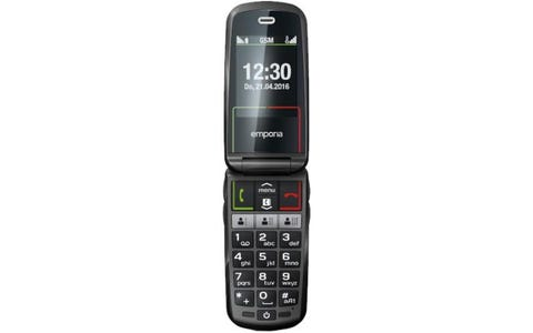 Emporia V99 SELECT 3G Clamshell Mobile Phone - Extra Large Keys & Colour Screen