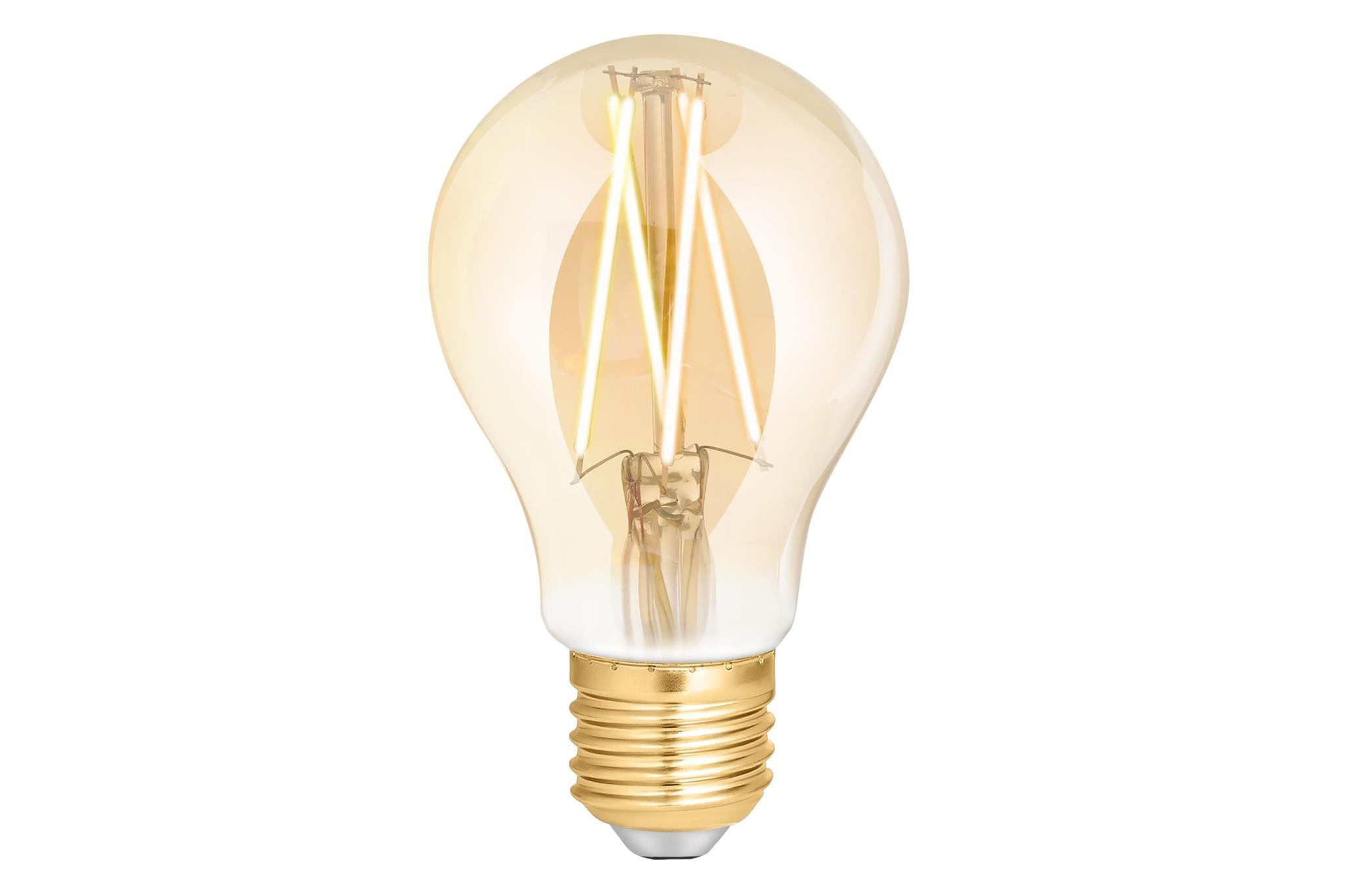 4lite WiZ Connected A60 Edison Filament LED Smart Bulb Amber White Dimmable WiFi  - E27 Screw