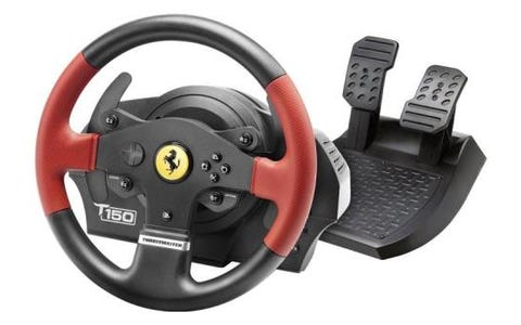 Thrustmaster T150 Ferrari Edition Gaming Steering Wheel Add-On & Pedals