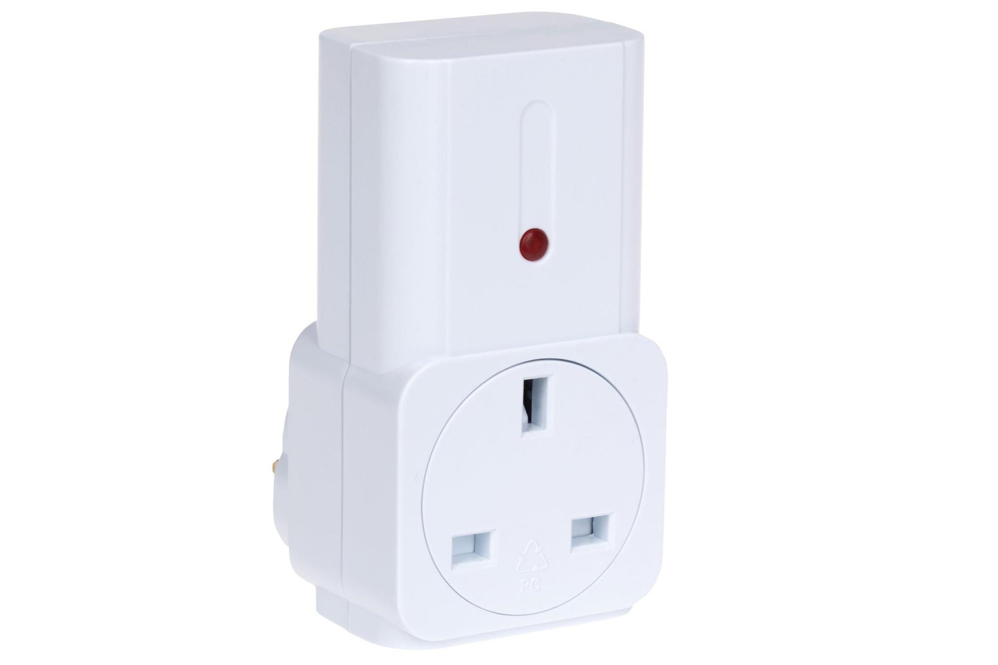 Maplin ORB Remote Controlled Mains Plug Socket - White - No Remote included