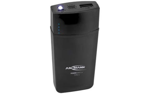 Ansmann Powerbank 5.4 5000mAh Ultra Fast Type C LED Light - Black