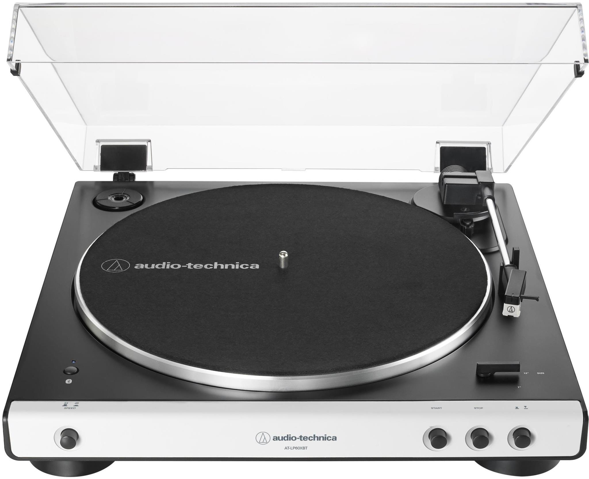 Audio-Technica AT-LP60XBT Automatic Wireless Belt-Drive Stereo Turntable - White