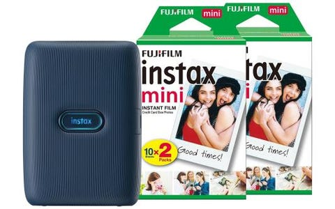 Fujifilm Instax Mini Link Printer including 40 Shots - Dark Denim