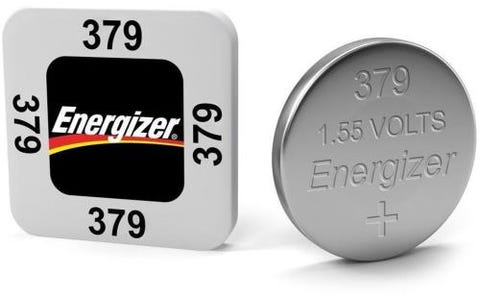 Energizer SR63/S56 379 Silver Oxide Coin Button Cell Battery (Pack of 10)
