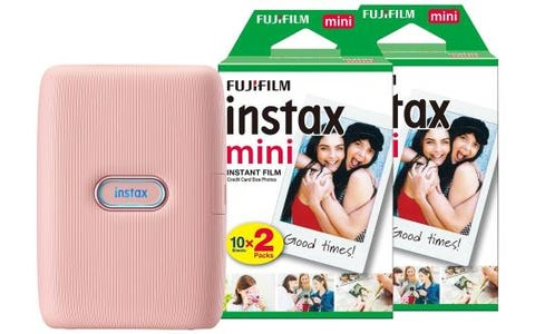 Fujifilm Instax Mini Link Printer including 40 Shots - Dusty Pink